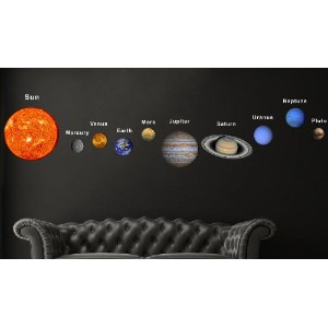 Pop Decors Fabric Wall Sticker, Solar Planets by Pop Decors