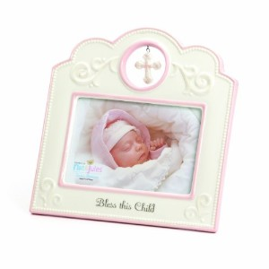 Nat and Jules Bless This Child Frame, Pink by Nat and Jules