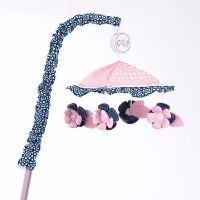 CoCaLo Madison Musical Pink and Blue Flowers Crib Mobile by Cocalo