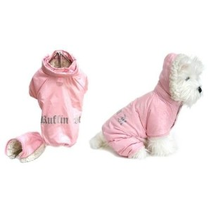 Dog Coat - Ruffin' It Snowsuit - Pink - Small/Medium (S/M) by Doggie Design