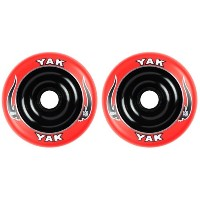 YAK SCAT High Performance Scooter Wheel (Aluminum Core/2nd) キックボード用ウィール 100mm x 88a 前後Set (Red on...
