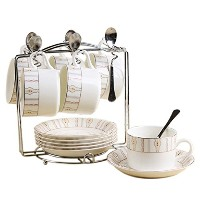 Porcelain Tea Cup and Saucerコーヒーカップセットwith Saucer andスプーン20pc、6のセットsi-tc-xgdd