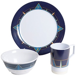 Galleyware 1078-s 18 Decoratedメラミン滑り止め18 Piece Dinnerwareギフトセット