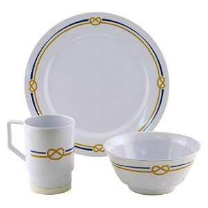 Galleyware 1090-s 12 Decoratedメラミン滑り止め12 Piece Dinnerwareギフトセット