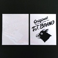 TJ BRAND Cutting Sticker Main logo Lサイズ