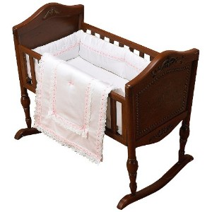 Baby Doll Bedding Royal Classic Cradle Bedding Set, Pink by BabyDoll Bedding