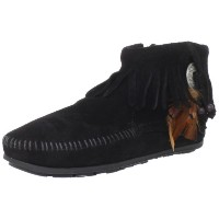 MINNETONKA (ミネトンカ) BOOTIE WITH CONCHO Color:BLACK Size:6