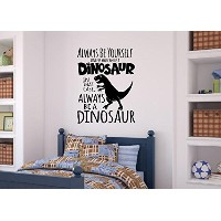 Be A Dinosaur Vinyl Decal Wall Decor Stickers Lettering Words Lettering Boy Kids Room Dテδゥcor 26x34...