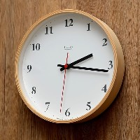 Lemnos Plywood clock 電波時計 ナチュラル LC10-21W NT