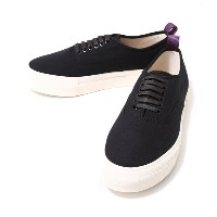 EYTYS(エイティーズ)LO CUT DECK SHOES-BLK-(厚底 ラバーソール キャンバス スニーカー) MOTHER-CANVAS-BLK【RIP】