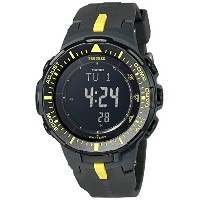 [カシオ]Casio 腕時計 Pro Trek Triple Sensor Tough Solar Digital Display Quartz Black Watch PRG-300-1A9CR...