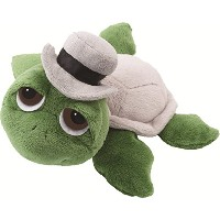 Suki Gifts Li'l Peepers Turtles Groom Turtle Soft Boa Plush Toy With Shell And