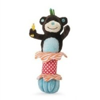 Mud Pie Monkey Safari Stick Rattle by Mud Pie