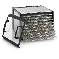 Excalibur エクスカリバー 食品乾燥機 フードディハイドレーター 9-Tray Clear Door Stainless Steel Dehydrator w/Stainless Steel...