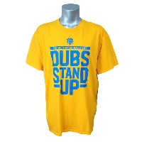 NBA ウォリアーズ 2017 ウェスタン カンファレンス DUBS STAND UP Tシャツ Kaiser Permanente イエロー レアモデル