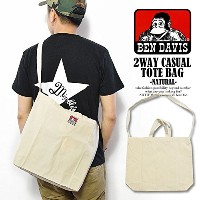 (ベンデイビス)BEN DAVIS公式 2WAY CASUAL TOTE BAG -NATURAL- FREE