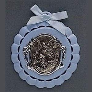 Roman Baby Cradle Medal in Gift Box (Blue) by Roman