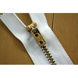 Vintage タロン ジッパー Brass #4 wht TALON Zipper