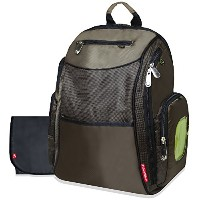 Fisher-Price Fastfinder Diaper Backpack, Brown by Fisher-Price