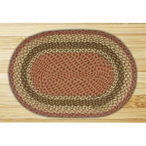 Earth Rugs C-024 Oval Rug, 27 x 45, Olive/Burgundy/Gray by Earth Rugs