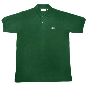US LACOSTE(北米 ラコステ) #L1212 S/S PIQUE POLOSHIRTS(半袖 鹿の子 ポロシャツ) VERT(DARK GREEN)(132)