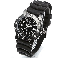 [Smith & Wesson]スミス&ウェッソン ミリタリー腕時計 SWISS TRITIUM 357 SERIES DIVER WATCH RUBBER BLACK SWW-357-R [正規品]
