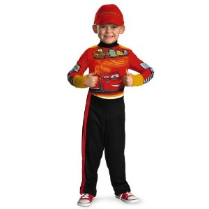 DisguiseディズニーCars 2 Lightning McQueen Pit Crew Classic Boys Costume Toddler Medium 3 / 4T