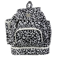 Kalencom Diaper Backpack, Leopard Black and White by Kalencom