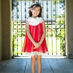 Kids Dream DRESS ガールズ 2T レッド KDREM-284RED2