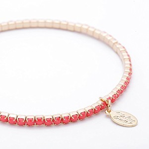 ma chere Cosette? シェリーアンクレット Cherie Anklet コーラルピンク