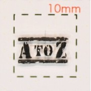 A TO Z【スタンプ ネイルシール】/1シート12枚入