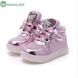 Girls shoes baby Fashion Hook Loop led shoes kids light up glowing sneakers little Girls princess...