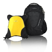 Obersee Oslo Diaper Bag Backpack with Detachable Cooler, Black / Yellow by Obersee