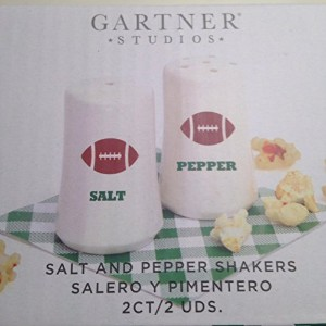 Gartner Studios Salt and Pepper Shakers Footballテーマ