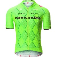 カステリ メンズ サイクリング スポーツ Castelli Cannondale Team 2.0 Full-Zip Jersey - Men's Spint Green