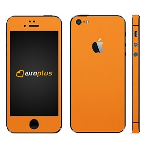 wraplus for iPhoneSE & iPhone5S/5 【オレンジ】 スキンシール + 液晶保護フィルム