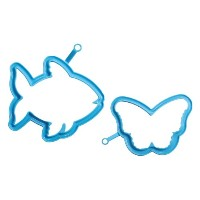 Silikomart Pratika Collection 2-Piece Egg and Pancake Mold Shape Set, Fish and Butterfly by...