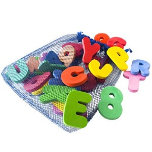 Freddie and Sebbie Bath Toys, Non Toxic Luxury 36 Piece Set Bath Letters and Numbers with Toy...