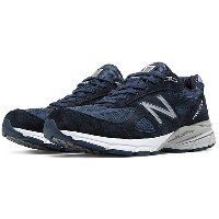New Balanceニューバランス M990NV4Navy Leather/Meshネイビー