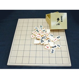 【as】折将棋盤&将棋駒セット 新桂5号+歩心(裏赤) プラスチック駒で初心者、お子様にも最適♪【RCP】