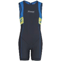 【現品特価】ZOOT M PERFORM TRI BACKZIP RACESUIT グレー/ブルー