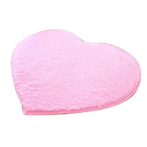 Zhhlaixing 高品質の Super Soft Home Heart-Shape Carpet Fashion Non-slip Solid color Cushion Rug
