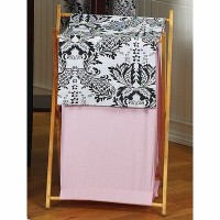 Baby and Kids Clothes Pink and Black Sophia Laundry Hamper by Sweet Jojo Designs by Sweet Jojo...