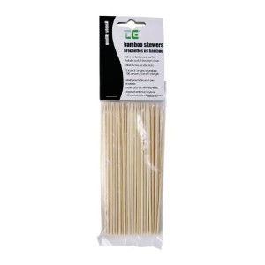 100 x SKEWERS / SATE STICKS IN BAMBOO (CARDED) Size 150mm by T&G Woodware