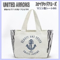 BEAUTY & YOUTH UNITED ARROWS ユナイテッドアローズ【DM便無料】マリン風トートBAG ランチトートバッグ toto トートバック ecoバッグ エコバッグ プリントバッグ...