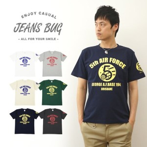 『5th AIR FORCE』 JEANSBUG ORIGINAL PRINT T-SHIRT オリジナルユーエスエアフォース 第5空軍 ミリタリープリント 半袖Tシャツ アメリカ空軍 米軍...