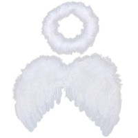 6-18mo Angel Feather Wings Cupid Fairy Baby Photo Props Free Halo
