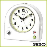 SEIKO セイコークロック アナログ 目覚まし時計 電子音 ライト ルミ 録音再生機能 NR433W 誕生日 ギフト