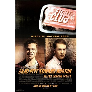 (24x36) Fight Club Movie (Edward Norton & Brad Pitt, Credits) Poster Print by Poster Revolution
