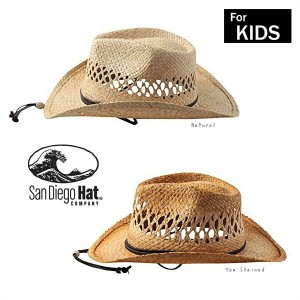 ≪SALE≫[送料無料]San Diego Hat ストローテンガロンハット[キッズ]4歳〜8歳 アメリカ ウエスタンハット カウボーイハット ストローハット つば広ハット 麦わら帽子 紫外線防止...